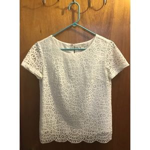 J.Crew Short Sleeves Lace Top